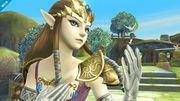 Zelda en Altárea viendo hacia la derecha SSB4 (Wii U).jpg