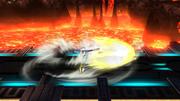 Ataque de recuperación desde el suelo (boca abajo) de Samus Zero (2) SSB4 (Wii U).png