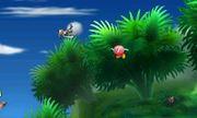 Greninja junto a Bronto en Smashventura SSB4 (3DS).jpg
