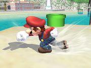 Ataque de recuperación de cara al suelo (1) Mario SSBB.jpg