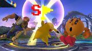 Pikachu levantando una Bandera Especial SSB4 (Wii U).jpg