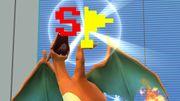 Charizard sosteniendo la Bandera especial SSB4 (Wii U).jpg
