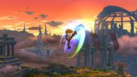 Karateka Mii usando Patadas giratorias en Super Smash Bros. for Wii U