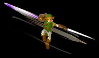 Link efectuando un ataque circular en Super Smash Bros. Melee