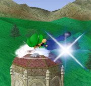 Ataque Smash hacia abajo de Luigi (1) SSBM.png