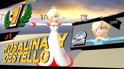 Rosalina y Destello bajo los efectos del glitch de la pose T en la pantalla de resultados.jpg