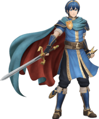 Arte oficial de Marth en Fire Emblem Warriors