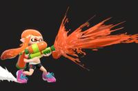 Vista previa de Rociador/Lanzatintas en la sección de Técnicas de Super Smash Bros. Ultimate