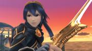 Lucina y su Falchion en el Campo de batalla SSB4 (Wii U).png