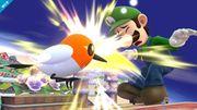 Fletchling atacando a Luigi SSB4 (Wii U).jpg
