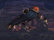 Ataque aéreo delantero Ganondorf SSBB.jpg