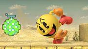 Pac-Man usando Fruta de bonificación SSBU.jpg