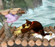 Lanzamiento trasero de Donkey Kong (4) SSBM.png