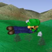 Ataque aéreo hacia atrás de Luigi SSBM.png