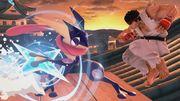 Greninja junto a Ryu en Suzaku Castle SSBU.jpg