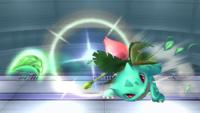 Ivysaur usando Hoja afilada en Super Smash Bros. Brawl