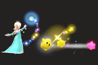 Vista previa de Trozos de estrella en la sección de Técnicas de Super Smash Bros. Ultimate