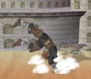 Ataque de recuperación de cara al suelo de Ganondorf (1) SSBM.png