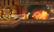 Explosion de Rodomba afectando a Pooka y Eggrobo en Smashventura SSB4 (3DS).jpg