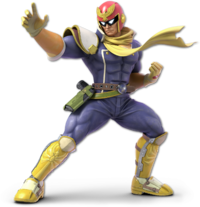 Art oficial de Captain Falcon en Super Smash Bros. Ultimate