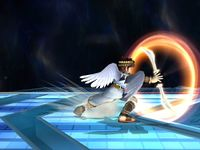 Pit usando el movimiento en Super Smash Bros. Brawl