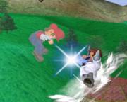 Lanzamiento trasero de Dr. Mario (2) SSBM.png