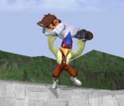 Lanzamiento hacia abajo de Falco (1) SSBM.png