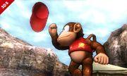 Diddy Kong haciendo su burla superior en el Valle Gerudo SSB4 (3DS).jpg