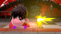 Tercera pose de Kirby al disparar.