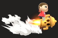 Vista previa de Cohete Giroide en la sección de Técnicas de Super Smash Bros. Ultimate