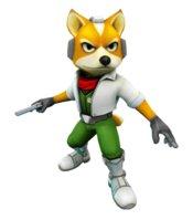 Art oficial de Fox McCloud en Star Fox 64 3D