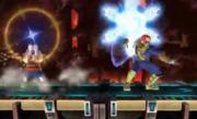Lucas atacando a Capitan Falcon con el Paralisis PSI en Norfair SSB4 (Wii U).png