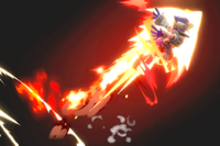 Vista previa de Pájaro de fuego en la sección de Técnicas de Super Smash Bros. Ultimate
