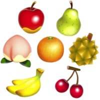 Diseño de las frutas en Animal Crossing: New Leaf