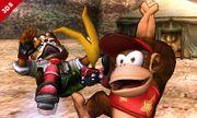 Diddy Kong haciendo su burla inferior en el Valle Gerudo SSB4 (3DS).jpg
