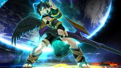 Pit sombrío a punto de ejecutar su Smash Final en Super Smash Bros for Wii U