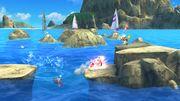 Olimar, Kirby y Aldeano en las Islas Wuhu SSB4 (Wii U).jpg