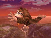 Ataque aéreo trasero Donkey Kong SSBB.jpg