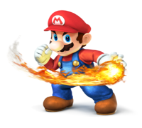 Art oficial de Mario en Super Smash Bros. para Nintendo 3DS y Wii U