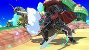 Caballero Negro atacando a Link SSBU.jpg