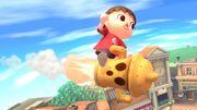 Aldeano sobre un giroide SSB4 (Wii U).jpg