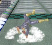 Ataque de recuperación de cara al suelo de Captain Falcon (2) SSBM.png