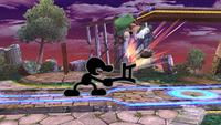 Saca una pequeña silla provocando daño al rival.