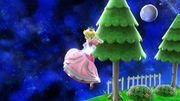 Ataque aéreo hacia abajo Peach SSB4 Wii U.jpg