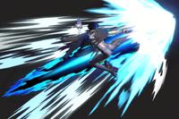 Vista previa de Tacón lateral / Patada After Burner en la sección de Técnicas de Super Smash Bros. Ultimate