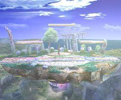 Vista del Campo de batalla en Super Smash Bros. Brawl