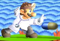 Dr. Mario usando una Megavitamina en Super Smash Bros. Melee