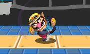 Ataque Smash hacia arriba de Wario (2) SSB4 (3DS).JPG