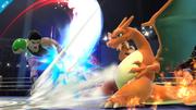 Charizard esquivando un ataque de Little Mac SSB4 (Wii U).png