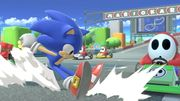 Sonic corriendo en Circuito Mario SSBU.jpg